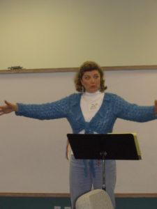 Gigi speaking at EFC Moms